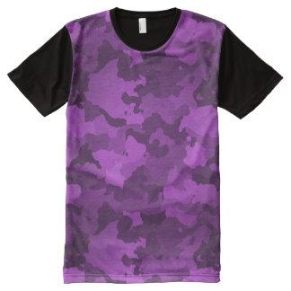 Lila Camouflage T-Shirt Mit Bedruckbarer Vorderseite