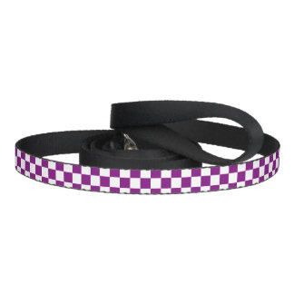 Lila Checkered Hundeleinen