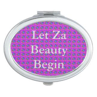 Lila Checkered Schönheit Taschenspiegel