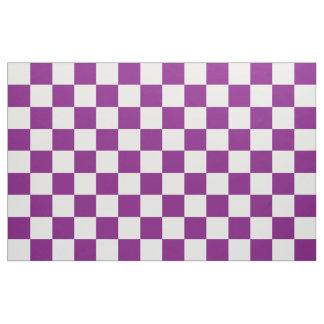 Lila Checkered Stoff