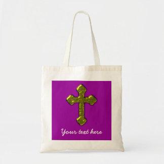 Lila christliches kundengerechtes budget stoffbeutel