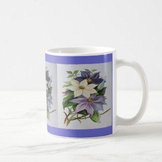 Lila Clematis Kaffeetasse