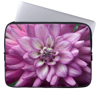 Lila Dahlie-Blumen-Laptophülse Laptopschutzhülle