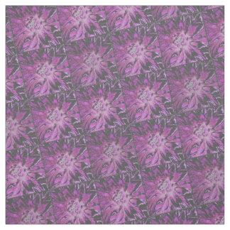 Lila Dahlie-Blumen-Muster Stoff