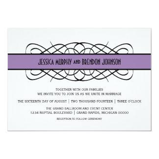 Lila Deko blühen Hochzeit einladen 12,7 X 17,8 Cm Einladungskarte