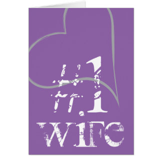 Lila Ehefrau der Nr.-1, Hashtag Karte