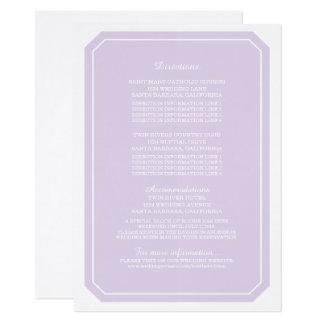 Lila einfach elegante Informations-Karte 11,4 X 15,9 Cm Einladungskarte
