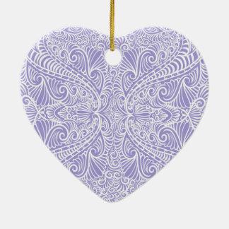 Lila eleganter Fluss Keramik Herz-Ornament