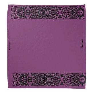 Lila Entwurf Bandana Kopftuch
