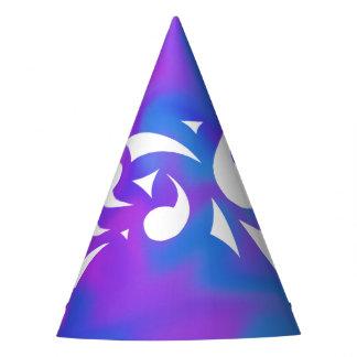 Lila Fantasie-Party-Hut Partyhütchen