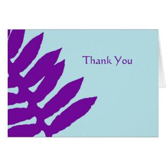 Lila Farn-Geschäft danken Ihnen zu merken Mitteilungskarte