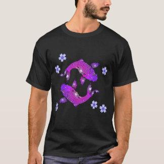 Lila Fische Asiens Koi T-Shirt
