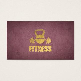 Lila Fitness-persönlicher Trainer Kettlebell Visitenkarte