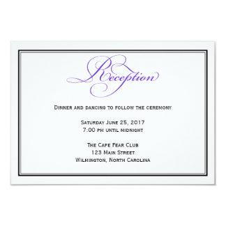 Lila formale Skript-Hochzeits-Empfangs-Einzelkarte 8,9 X 12,7 Cm Einladungskarte