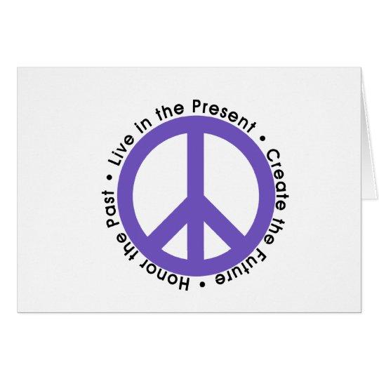Lila Friedenszeichen Grußkarte
