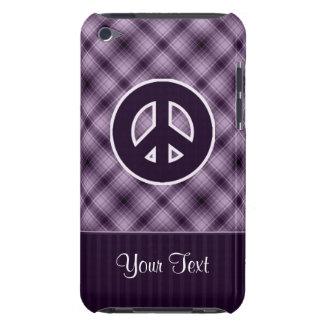 Lila Friedenszeichen iPod Touch Etuis