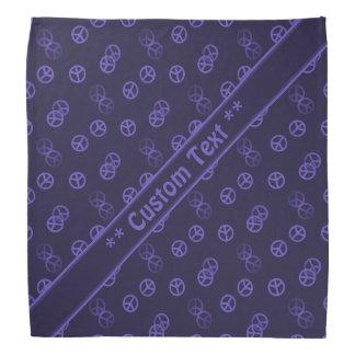 Lila Friedenszeichen-Muster mit kundenspezifischem Kopftuch
