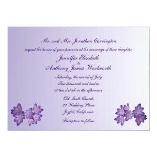 Lila Frühlings-Blumenhochzeit 14 X 19,5 Cm Einladungskarte