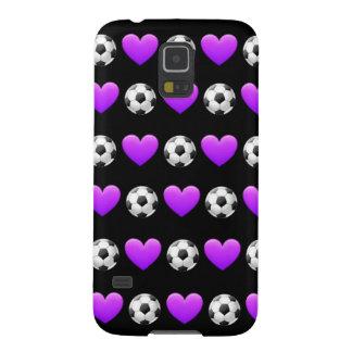 Lila Fußball-Ball Emoji Samsung Kasten Galaxie-S5 Samsung S5 Cover