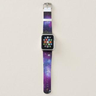 Lila Galaxie-Gruppen-Raum-Bild Apple Watch Armband