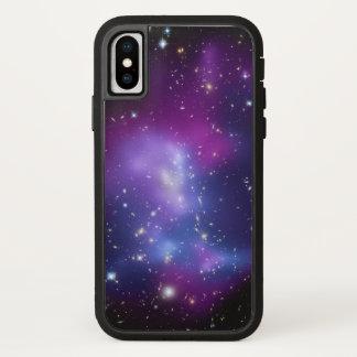 Lila Galaxie-Raum-Foto iPhone X Hülle