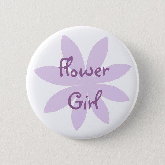 Lila Gänseblümchen-Blumen-Mädchen Runder Button 5,1 Cm