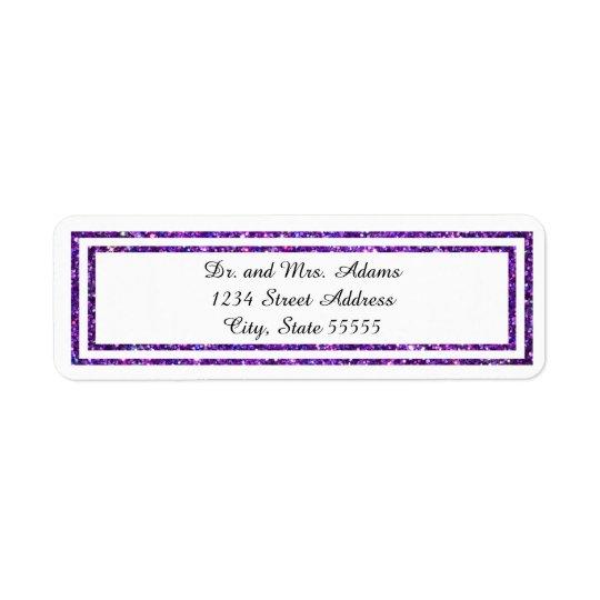 Lila gefunkelte Ordnung - Adressen-Etikett