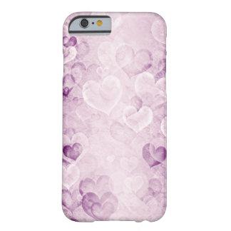 Lila gewaschene heraus Herzen entwerfen iPhone 6 Barely There iPhone 6 Hülle