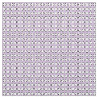 """Lila Gewebe mit weißen Polka-Punkten (54"""" Breite) Stoff"""