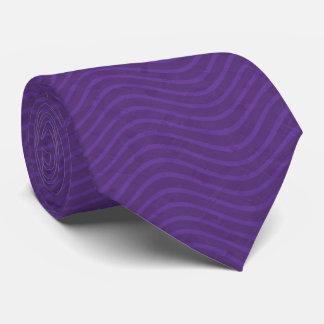 Lila gewellte Linien Muster Bedruckte Krawatten