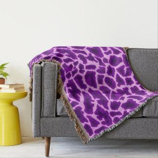 Lila Giraffen-Druck Decke