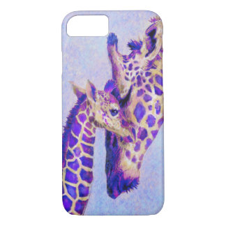 lila Giraffen iPhone 7 Kasten iPhone 7 Hülle