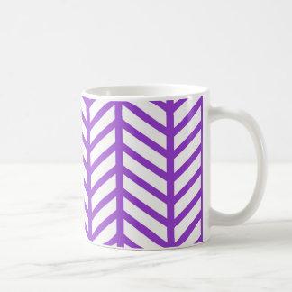 Lila Gitter-Streifen Kaffeetasse