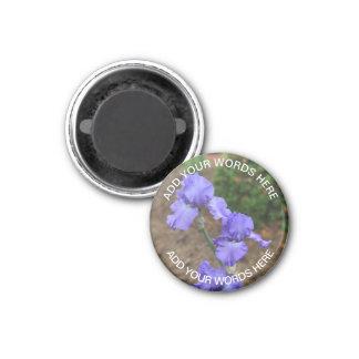 Lila Gladiolus: Personalisierter Magnet