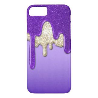 Lila Glitter-Fluss iPhone 7 Hülle
