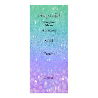 Lila Glitter-Patio-Laterneconfetti-bezauberndes 10,2 X 23,5 Cm Einladungskarte