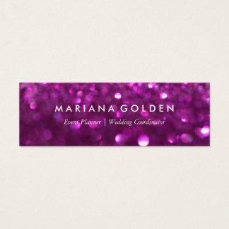 Lila Glitter-Schein Bokeh Geschäfts-Karte Mini Visitenkarte