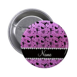 Lila Glitterpastellzahl Skaten des individuellen Buttons