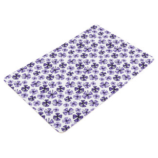 Lila glücklicher Kleeblatt-Klee Bodenmatte