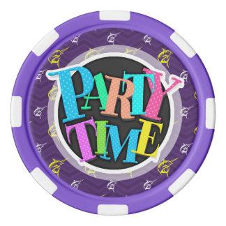 Lila, Goldgelb, Weiß, Hochseefischerei Poker Chips Set