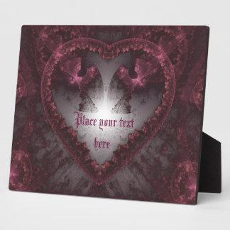 Lila gotisches Herz 001 Fotoplatte