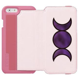 Lila Göttin iPhone Geldbörsen-Kasten Incipio Watson™ iPhone 6 Geldbörsen Hülle