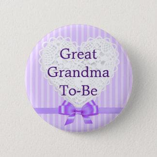 Lila große Großmutter, zum Baby-Duschen-Knopf zu Runder Button 5,1 Cm