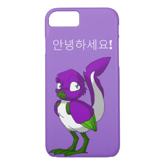 Lila/Grün-/weißerreptilian-Vogel-Koreaner hallo iPhone 8/7 Hülle
