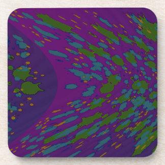 lila grüne abstrakte Kunst Drink Untersetzer