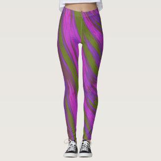 Lila grüne FarbSwish abstrakt Leggings