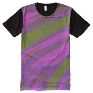 Lila grüne FarbSwish T-Shirt Mit Komplett Bedruckbarer Vorderseite