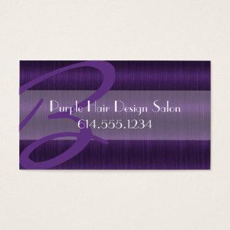 Lila Haar-Salon-Stylistbeautician-Geschäfts-Karte Visitenkarte