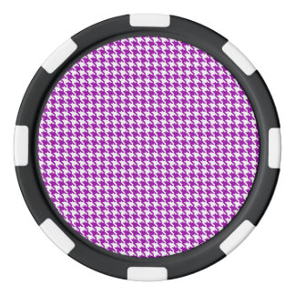 Lila Hahnentrittmuster-Muster Poker Chips
