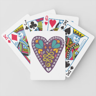 Lila Herz Poker Karten